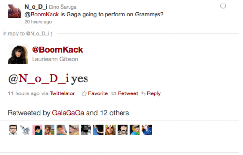gaga confirmation tweet