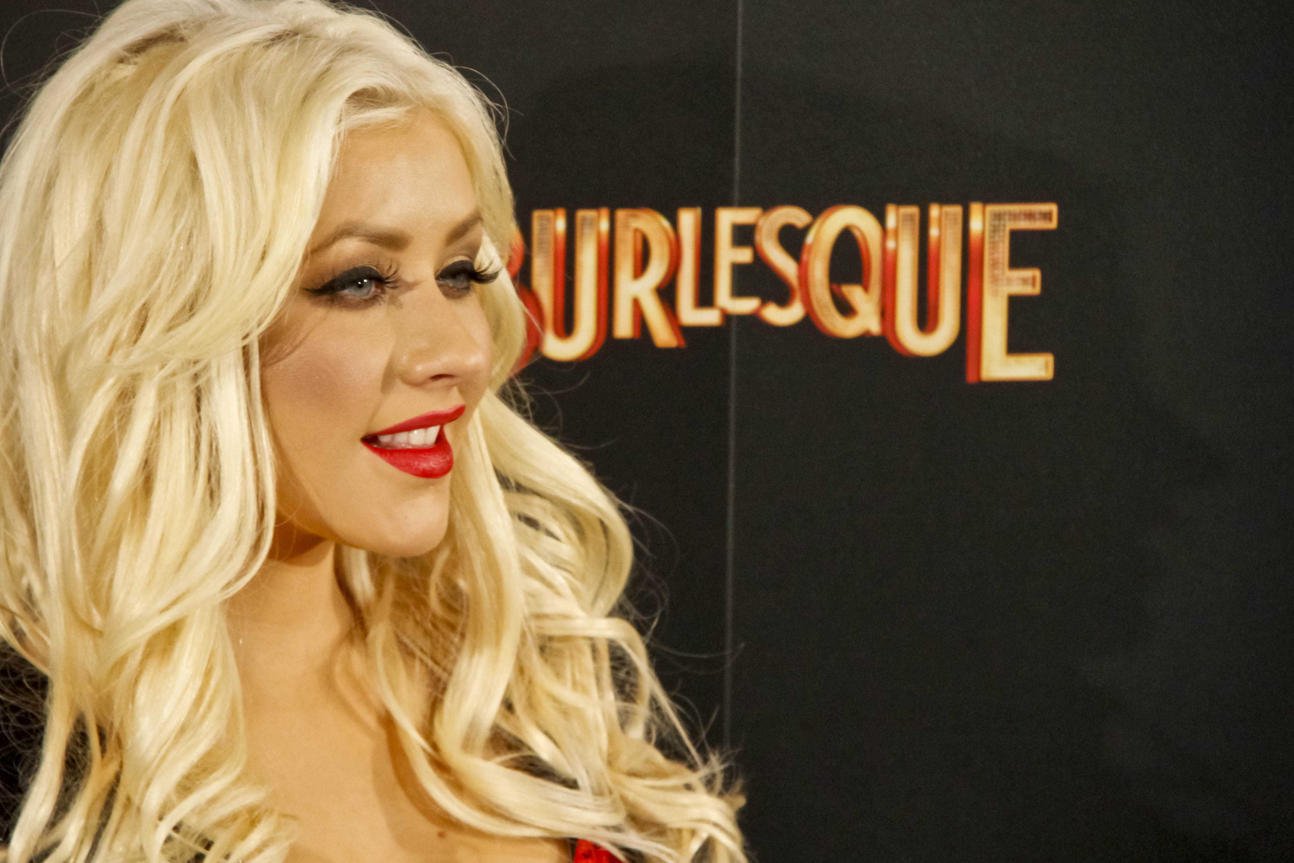 Christina Aguilera and Cher present 'Burlesque' in Madrid