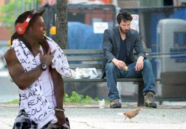 """Why the sad face, Keanu? Weezy thought """"Speed"""" was sick!"""