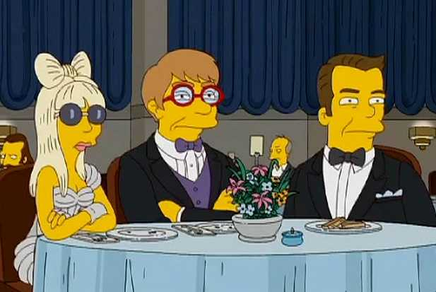 lady gaga the simpsons elton john