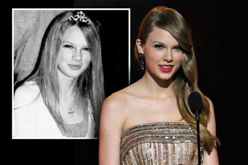 taylor swift high school yearbook photo