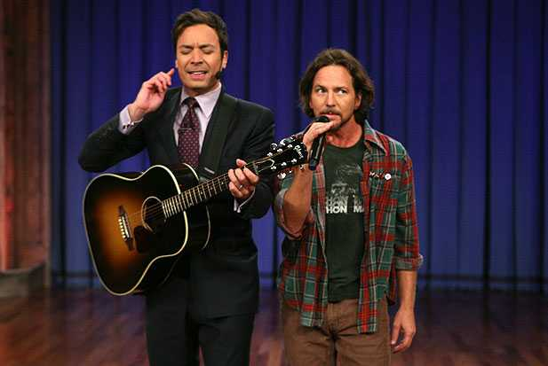eddie vedder, jimmy fallon