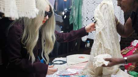 lady gaga shopping india lace