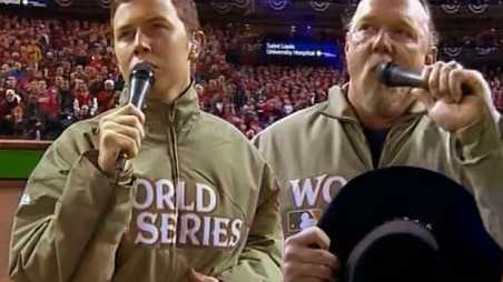 scotty mccreery national anthem baseball