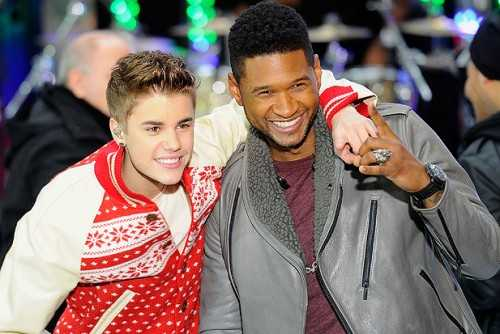justn bieber usher today show performance christmas