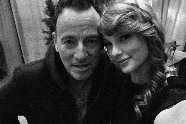 taylor swift bruce springsteen backstage thunder road