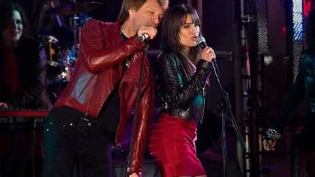 lea michele new years eve bon jovi