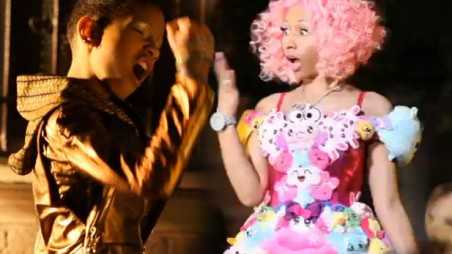 nicki minaj willow smith fireball preview video