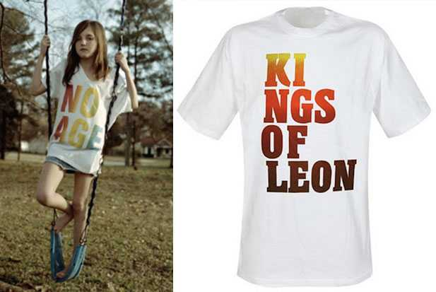 no age kings of leon shirt
