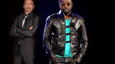 robert downey junior will.i.am black eyed peas working together acting film music