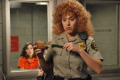 Katy Perry Raising Hope police woman jail