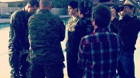 katy perry military new video set pictures