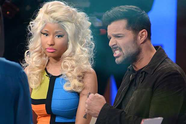 Nicki Minaj Rick Martin good morning america