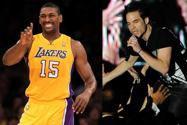 ron artest and train