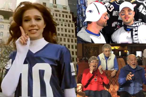 super bowl parodies videos patriots giants
