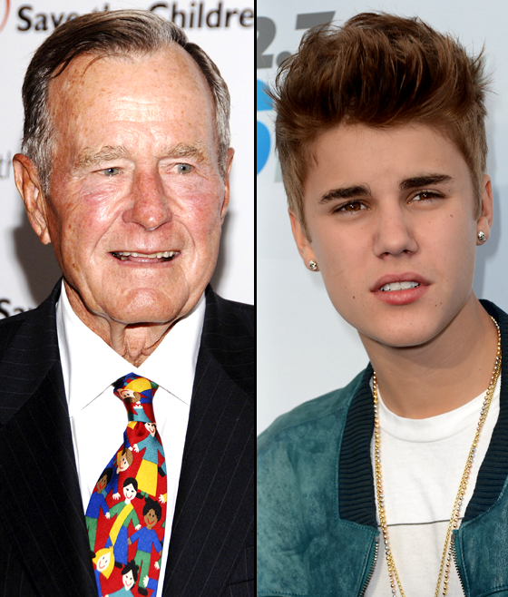 Bieber in the Day - george bush