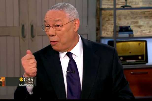 Colin Powell sings call me maybe holding