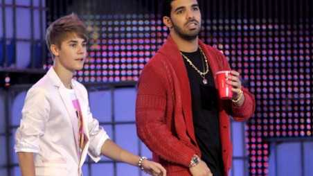 Justin Bieber and Drake Holding