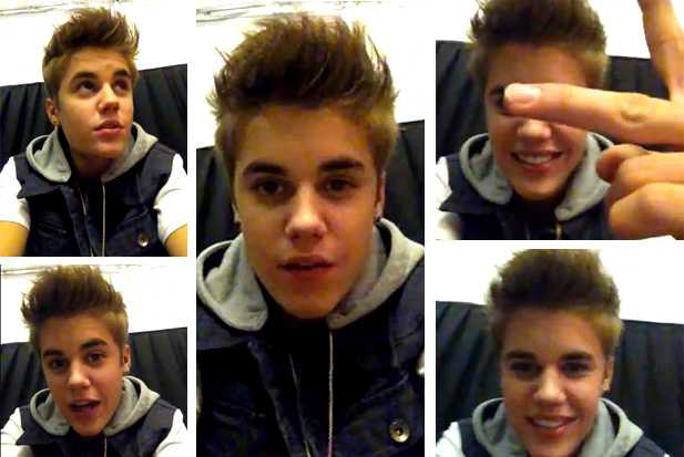 Justin Bieber Video to Fans Holding