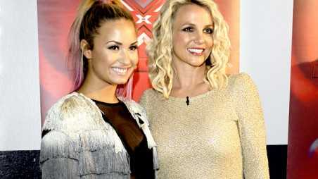 X-Factor: Demi and Britney - holding