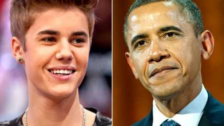Bieber and Obama - Boyfriend - holding