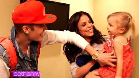 Justin Bieber on Bethenny - holding