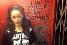Sticky: Rihanna mines bigger than yours - holding