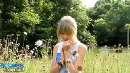 Both of Us video with Taylor Swift - holding