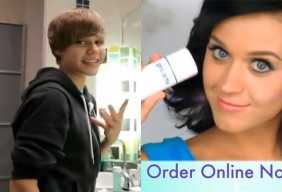 Katy Perry Justin Bieber Proactiv ad