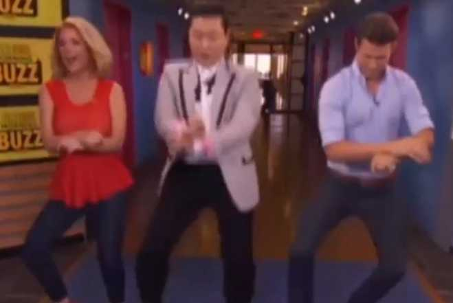 "Psy Teaches the ""Gangnam Style"" Horse-Riding Dance"