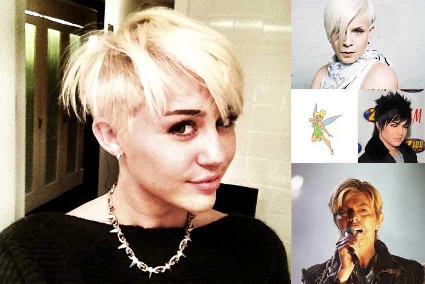 Miley Cyrus Haircut Collage