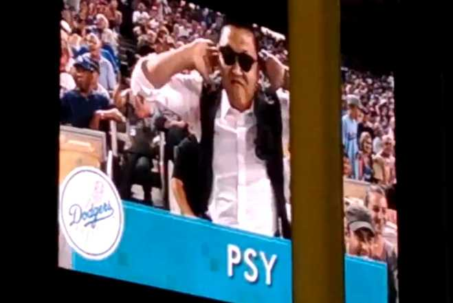 PSY At Dodgers Game