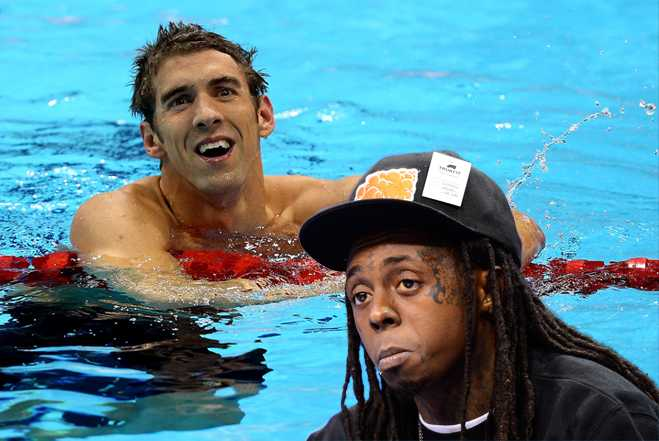 Tweetcap Lil Wayne Michael Phelps
