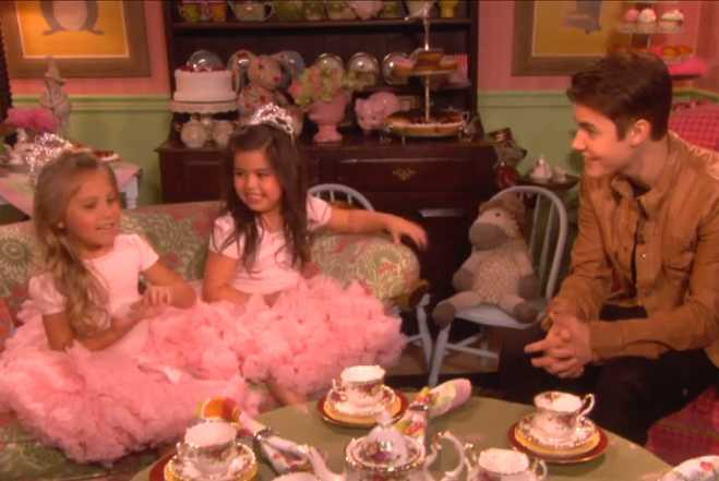justin bieber has tea with quotsuper bassquot princesses on