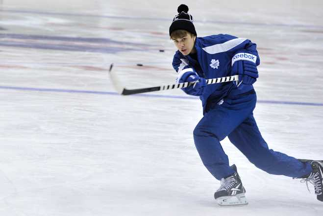 Justin Bieber Minor League Hockey