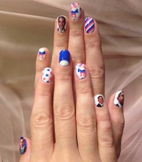 Katy Perry's Nails are a Tribute to President Obama