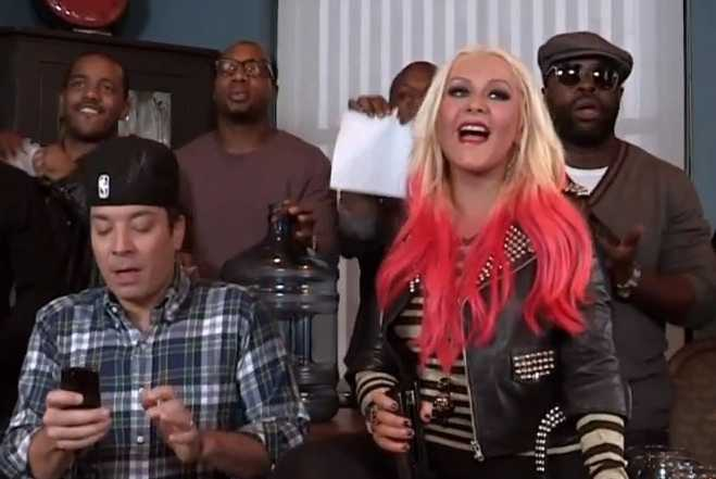 Christina Aguilera Jimmy Fallon The Roots Your Body