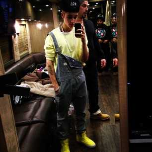 Justin Bieber Overalls Tour Bus