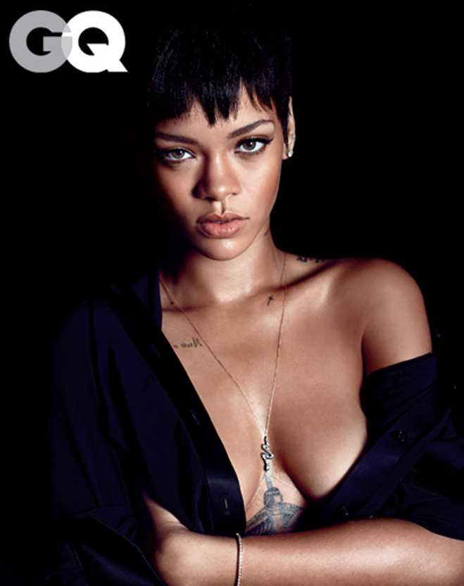 Rihanna Naked GQ