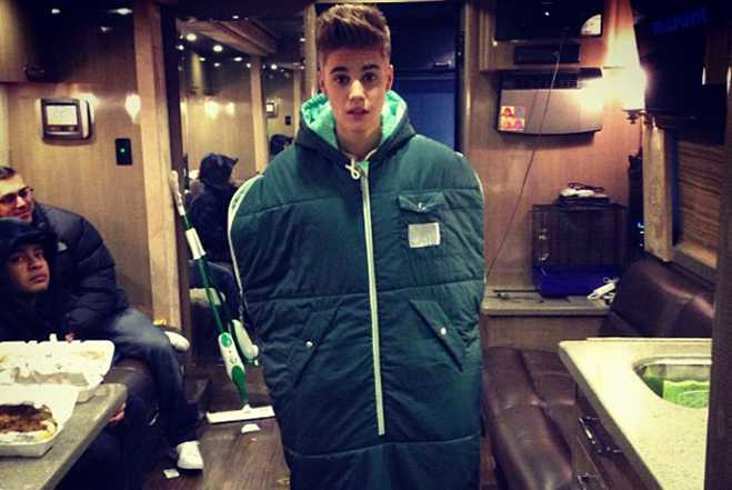 Sticky Justin Bieber Sleeping Bag