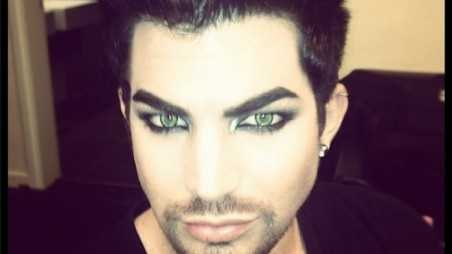 Adam Lambert Beard Movember Photo
