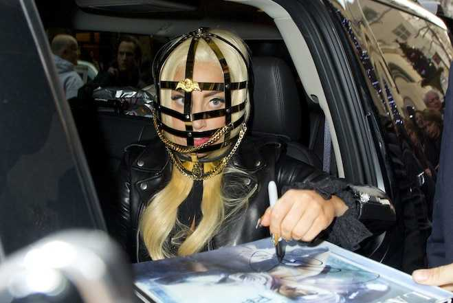 Lady Gaga Cage Mask