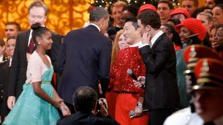 Psy and President Obama Attend Christmas in Washington
