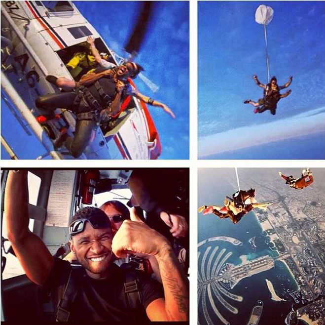 Usher Skydiving