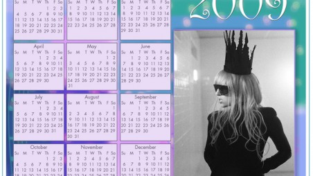 2009 Gaga Calendar Feature