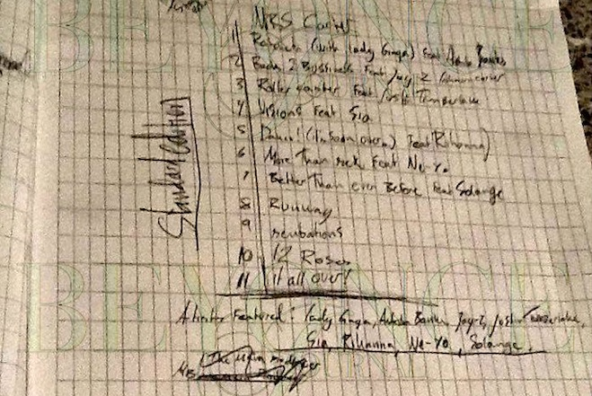 Beyonce Fake Track List Mrs. Carter