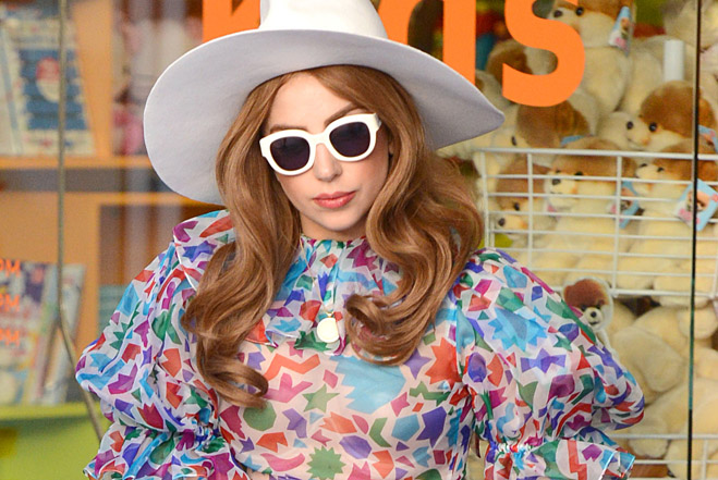 Lady Gaga shops at Kitson Kids. All Access Photo / Splash News
