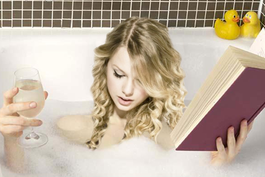 Taylor Swift Bathtub And Wine Feature