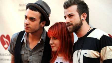 LOS ANGELES, CA - MAY 06:  (L-R) Musicians Taylor York, Hayley Williams, Jeremy Clayton Davis of Paramore arrive at the 7th Annual MusiCares MAP Fund Benefit at Club Nokia, LA Live on May 6, 2011 in Los Angeles, California.  (Photo by Frazer Harrison/Getty Images) *** Local Caption *** Taylor York;Hayley Williams;Jeremy Clayton Davis;