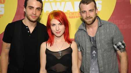 NASHVILLE, TN - JUNE 08:  (L-R) Musician Taylor York, singer Hayley Williams and musician Jeremy Davis of Paramore attend the 2011 CMT Music Awards at the Bridgestone Arena on June 8, 2011 in Nashville, Tennessee.  (Photo by Rick Diamond/Getty Images for CMT)